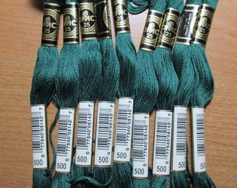 Lot of 4 Skeins DMC Floss # 500