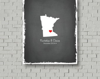 Guest Book Map Wedding Guest Book Alternative, Guest Book Canvas State Guest Book Faux Chalkboard Wedding Signs Home State Wedding Poster