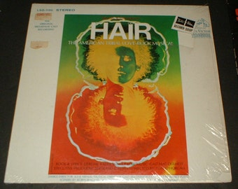 Super condition in original plastic HAIR Original Broadway Cast Performance, RCA Victor LSO 1150