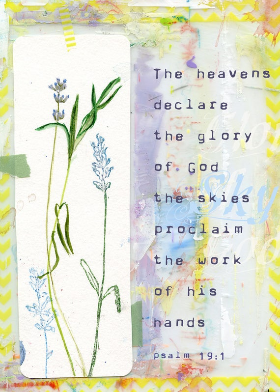 Psalm 19:1 Note Card 5x7