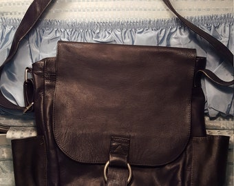 Leather Messenger/Shoulder/Cross body Bag