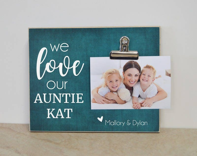 Personalized Aunt Gift Auntie Photo Frame Picture Frame