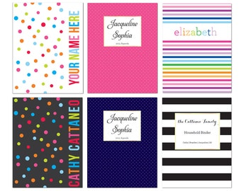 Personalized Planner Cover Page - INSTANT DOWNLOAD Agenda Cover Page