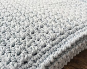Baby blanket, soft blue