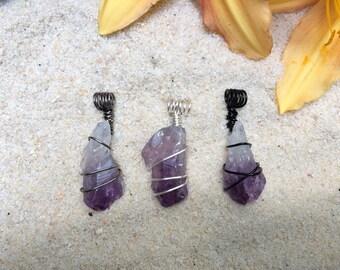Amethyst Crystal Point Necklace / Natural, Raw Amethyst Gemstone / February Birthstone