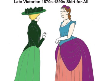 RH946 — Late Victorian (1870s-1890s) Skirt-for-All