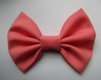 Sunset Coral Dog Bow Tie