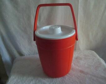 Orange Rubbermaid Ice Bucket Retro