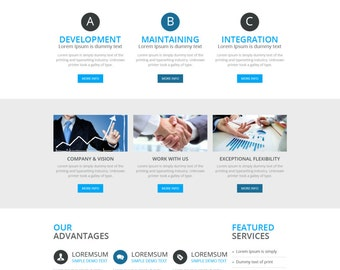 Business PSD Template, Corporate Website Template Design, Custom Website Design, Medicare Hospital PSD Template, WordPress Website Template