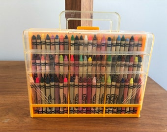 Vintage Crayola Crayons (72) in Carrying Case