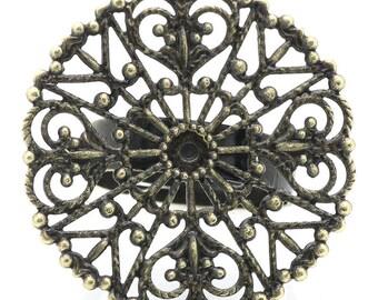 1 supports de rings adjustable watermark fleur18.3mm 3.2 cm bronze