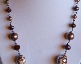 Autumn colors necklace 0407NK