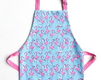 Flamingo toddler apron / childrens apron / adult apron