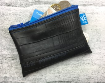 Penny Pincher Purse - upcycled inner tube zip coin purse - vegan