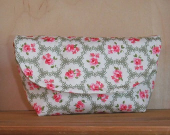 Handmade Purse Clutch / Notions Case Ideal For Knitting & Crochet (Cath Roses)