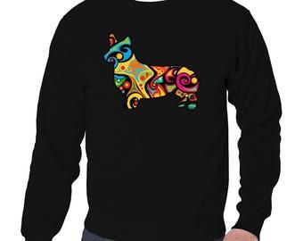 Psychedelic Pembroke Welsh Corgi Sweatshirt