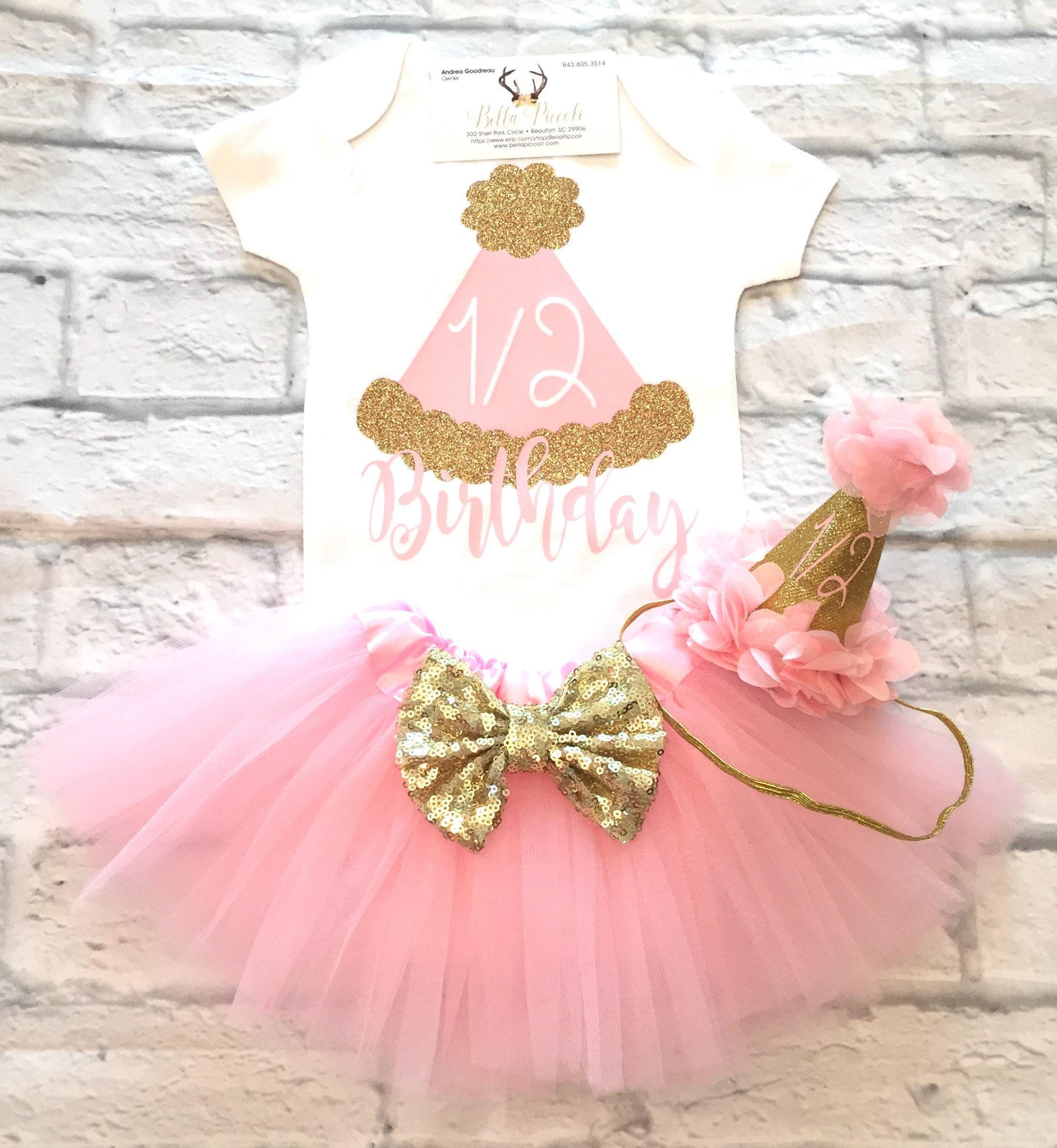 Baby Girl clothes Girls 1 2 Birthday Bodysuit 1 2 Birthday