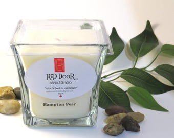 Hampton Pear Soy Wax Candle-Scented Candle-Valentines Day gift for her