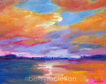 Coastal Landscape Sunset - Paper - Canvas - Wood Block
