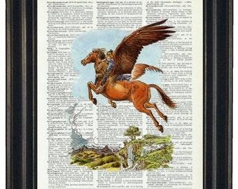BOGO SALE Upcycled Dictionary Art Print Narnia Print on Vintage Dictionary Page Nursery Wall Decor