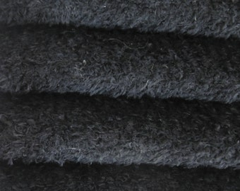 Quality VIS1/SCM - Viscose -1/4 yard (Fat) in Intercal's Color 124-Black. A German Viscose Fur Fabric for Teddy Bear Making, Arts & Crafts