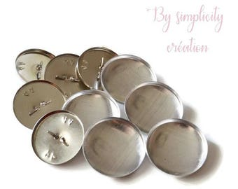Metal buttons covered with 28mm set of 15 foot