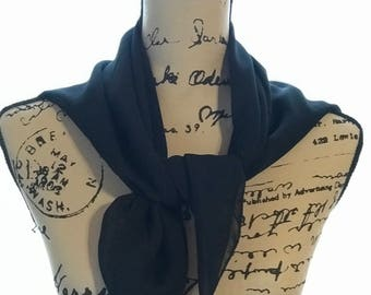 Chiffon Scarf, square, choice of size & color, made to order, Church scarf, head covering, neck scarf