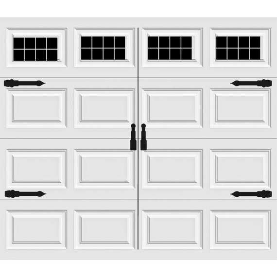 Garage Door Vinyl Window Decals: Carriage House Style Vinyl Garage Door Decal Kit Faux Windows