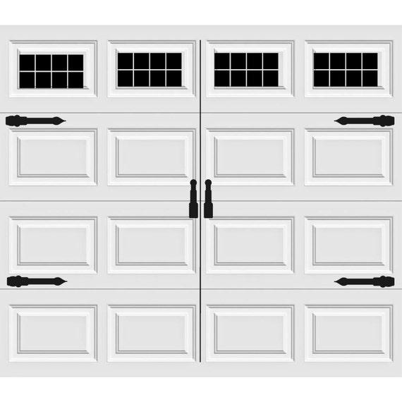 Style Your Garage Creative 3d Garage Doors Stickers: Carriage House Style Vinyl Garage Door Decal Kit Faux Windows