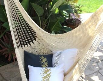 Pineapple Pillow / Pineapple Decor / Gold Pineapple Pillow / Tropical Decor / Tropical Pillow / Pineapple Pillow Cover / Linen Pineapple