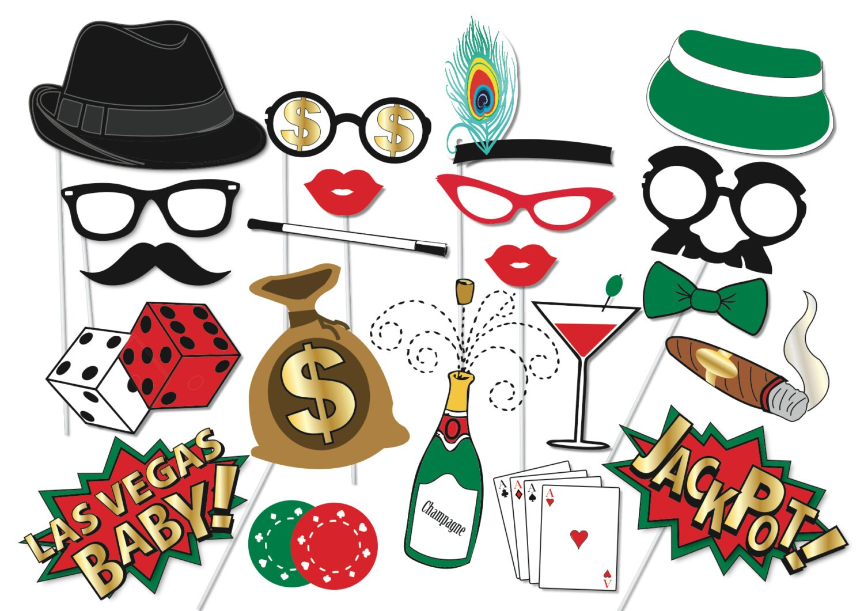 Poker Party Props Set 22 Piece PRINTABLE Poker night