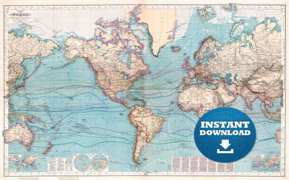 Digital old world map printable download vintage world map digital old world map printable download vintage world map printable map large world map high resolution world map posterastralia gumiabroncs Gallery