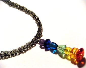 Rainbow Glass Necklace
