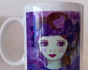 "Mug ""Romantic"" is derived of canvas"