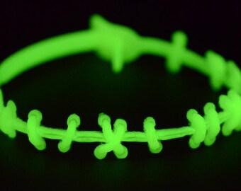 Stitch Necklace - Halloween Zombie Sally Stitches Ragdoll Necklace - Glow in the Dark  Halloween Jewelry