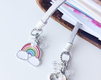 Be a Rainbow Travelers Notebook Bookmark, Travelers Notebook Charms, Travelers Notebook Accessories, Planner Bookmark, Rainbow, Cloud, Rain