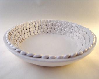 SALE Ceramic Bowl handmade white nature leaf petal delicate & Unique ceramic bowl | Etsy