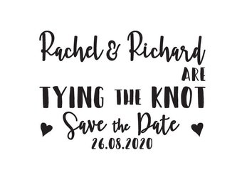 Save the Date / Tying the Knot / Save the Date Stamp / Save the Date Cards / Save the date Template / Wedding Save the Date