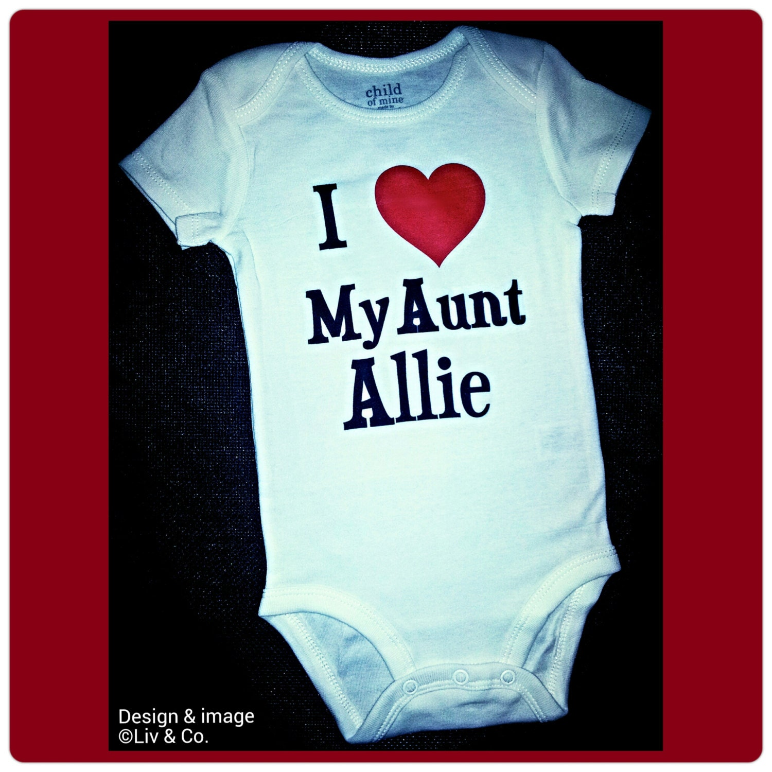 I love my aunt auntie baby outfit aunt baby shirt request a custom order and have something made just for you negle Image collections