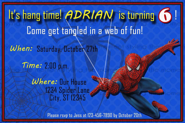 Spiderman printable birthday invitation zoom pronofoot35fo Gallery