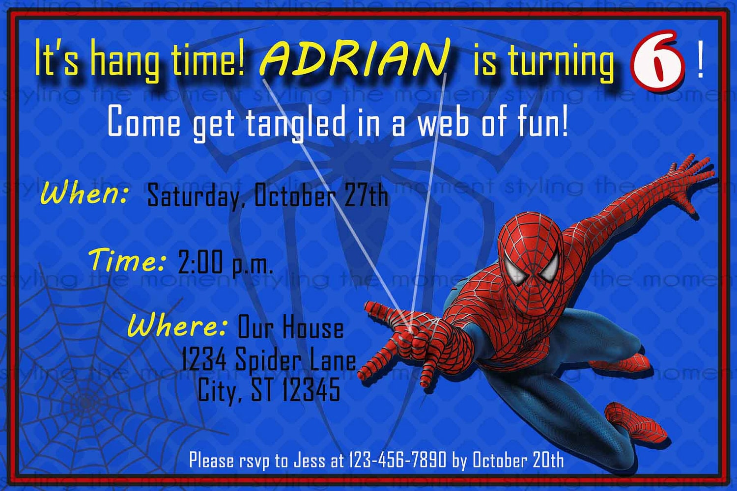 Spiderman Printable Birthday Invitation