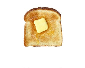 Butter Toast Clipart commercial and personal use, food clipart, food graphics, toast graphics, breakfast clipart, breakfast graphics