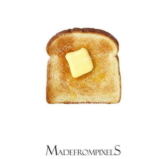 butter toast clipart commercial and personal use food rh etsy com toaster clipart black and white toaster clip art