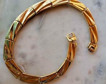 Badass Brass Vintage Bibb Necklace; Vintage Heirloom Piece