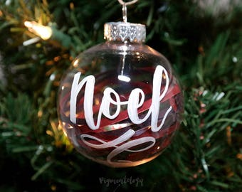 Custom Hand Lettered Shaker Ornaments