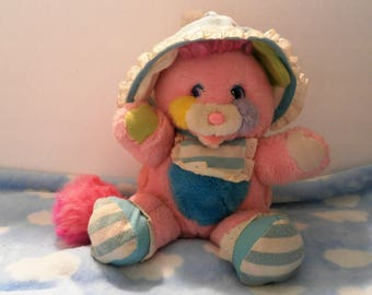 Popples Cribsy stuffed plush toy has rattle tail Stuffed Animal 1985-1987 Vintage American Greetings Those little Characters from Cleveland