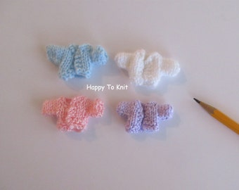 """Miniature sweater. Several colors. Fits 2.5"""" doll. 1:12 scale doll house"""