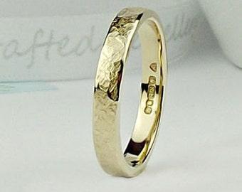 Gold Wedding Ring - 9ct gold -Terra Texture - gold wedding band - gold wedding ring - wedding band- wedding ring -rose gold ring- band-uk