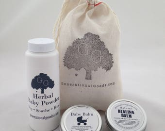 Mother & Child Set Gift Bag Natural Care for Diaper Rash and Dry Skin