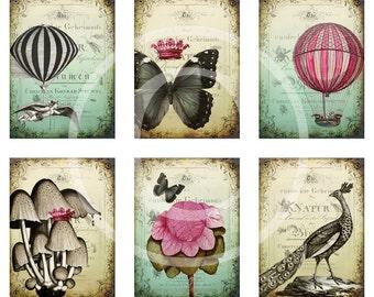 Shabby Whimsy - Digital Collage Sheet